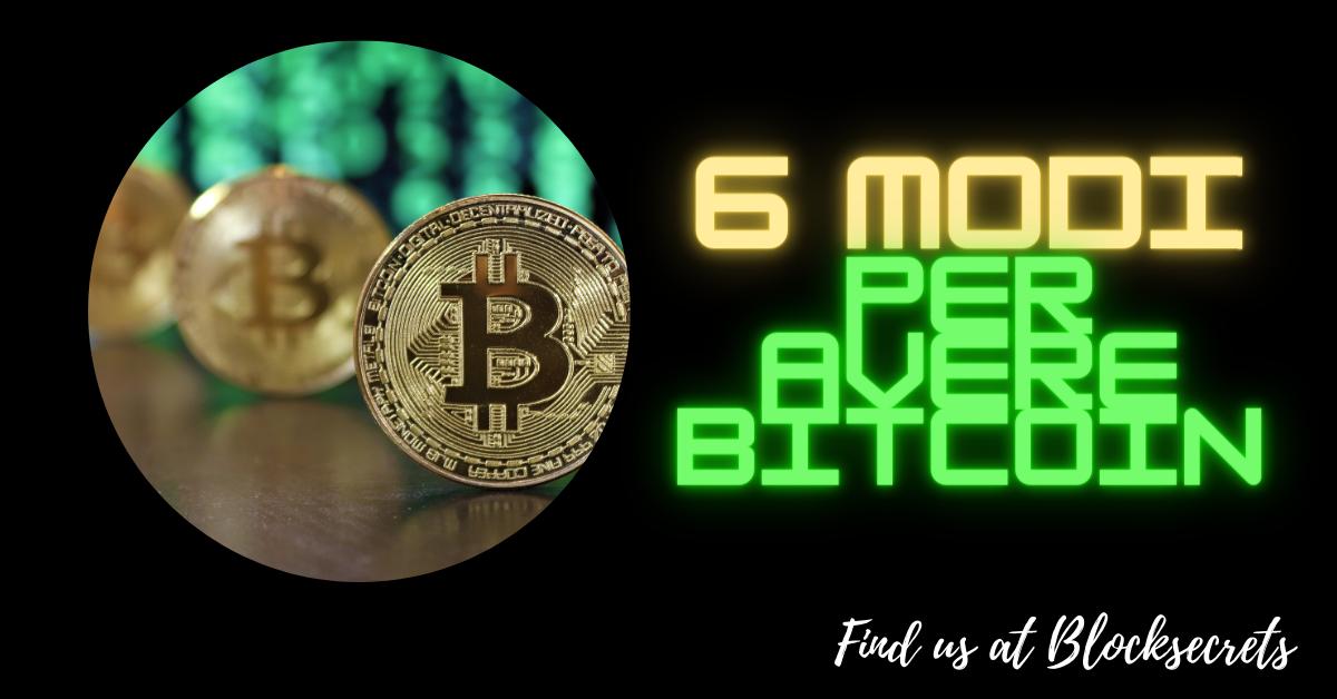I Bitcoin e la moneta